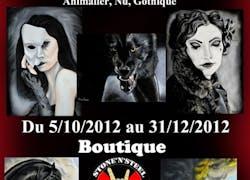 Exposition Hélène Roux / Boutique Stone n Steel à Versailles