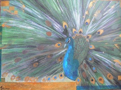 Le peintre Sophie morel-segret en exposition à Nançay