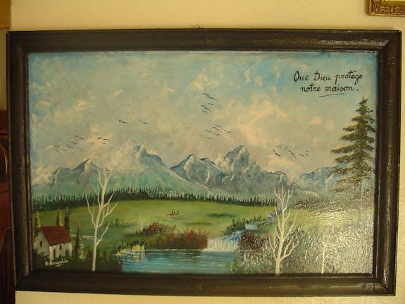 Paysage kabyle représentant les montagnes d'Algérie