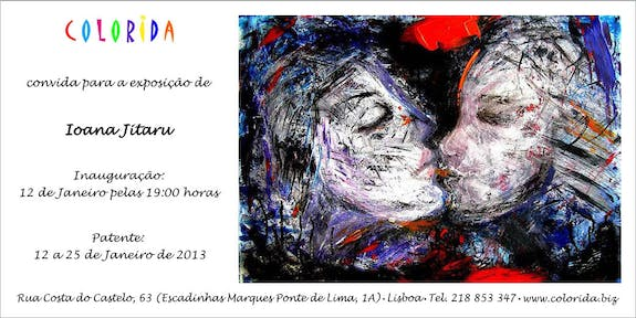 Painting exhibition opening Invitation
