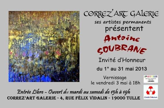 Grande exposition dans la galerie correz art pour antoine