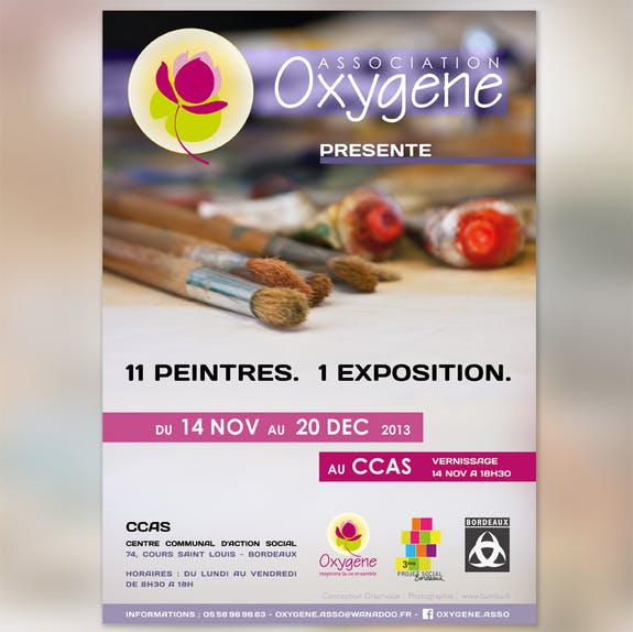 Exposition oxygène : 11 peintres. 1 Exposition.