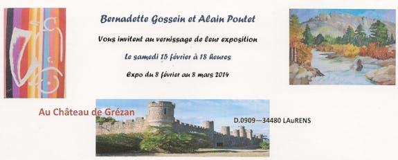 Exposition de Bernadette Gossein et Alain Poutet