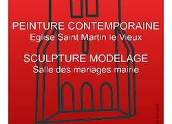 Exposition peinture contemporaine et scupture modelage «plastic'87»