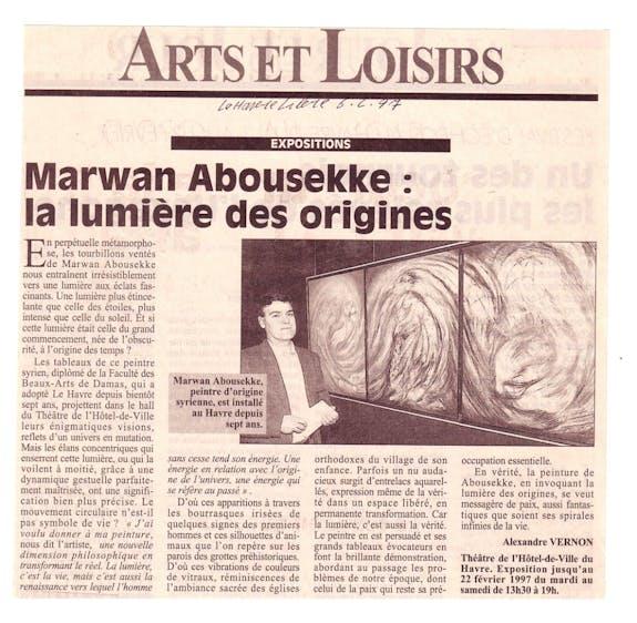 Marwan abousekke La lumière des origines