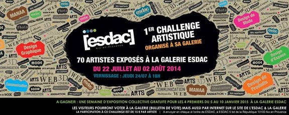 Exposition collective Challenge esdac