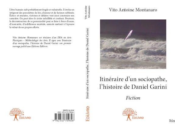 Couverture Publication Edilivre Itinéraire d'un Sociopathe-l'Histoire de D. G.