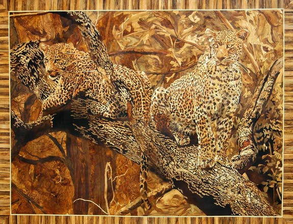 Hand made marquetry
