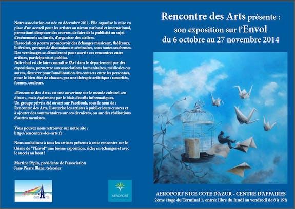 «L'envol» - exposition à l'aéroport de Nice