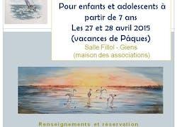 Initiation à l'aquarelle pour enfants et adolescents à Giens - Hyères (Var)
