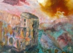 Josyane Faure expose ses toiles au caveau Arnaud de Villeneuve à Rivesaltes