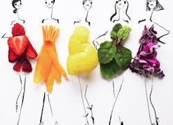Fashion Illustrator Creates Dress Sketches With Food