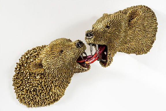 Animal Sculptures Made With Thousands Of Bullet Shells