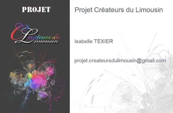 Projet Créateurs du Limousin