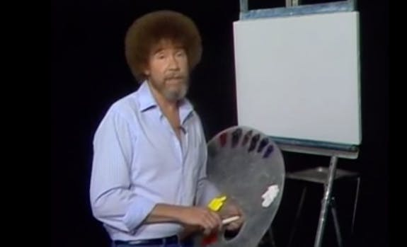 Remember Bob Ross and his «happy little clouds»?
