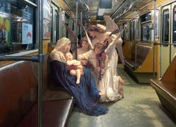 Old Master Paintings Characters Inserted Into Modern City Life