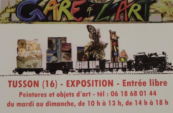 Exposition d'artistes «Gare à l'art» à Tusson