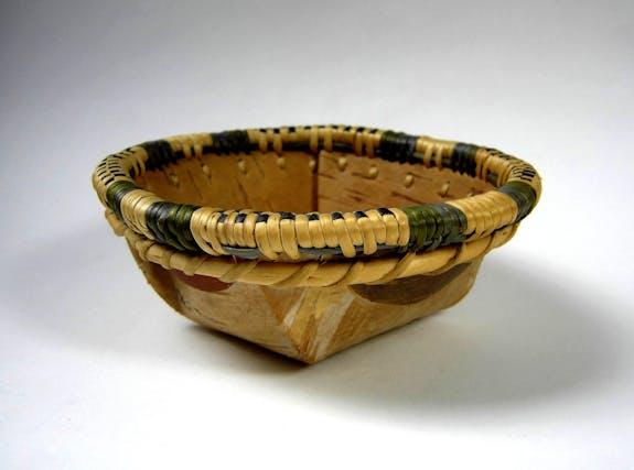 An Athabaskan Tathouke Birch Bark Basket