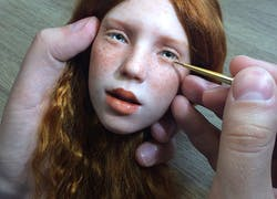 Almost too much hyper realistic dolls… Creepy!