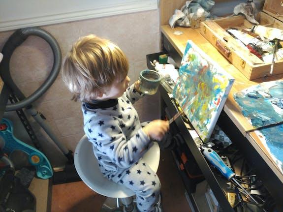Pequeño pintor