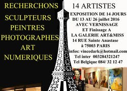 Appel à artistes exposition collective Galerie Art'&Miss 13 au 26 Juillet 2016