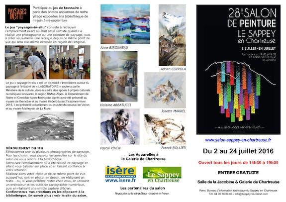 28 Ème salon de peinture du Sappey en Chartreuse