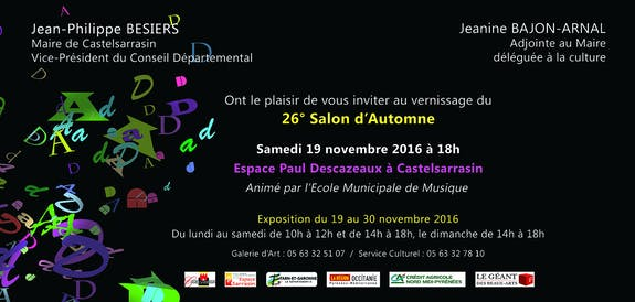Salon d'Art Contemporain «26ème Salon d'Automne» 2016_ castelsarrasin (82)