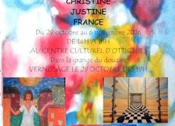 Fabienne Buyle et ses élèves France, Justine et Christine
