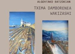 Exposición Pintura de los artistas Txema Damborenea y Wakizashi en el Batzoki Al