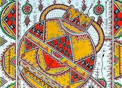 Paroles Tissées - toiles inspirées des motifs berbères de Kabylie