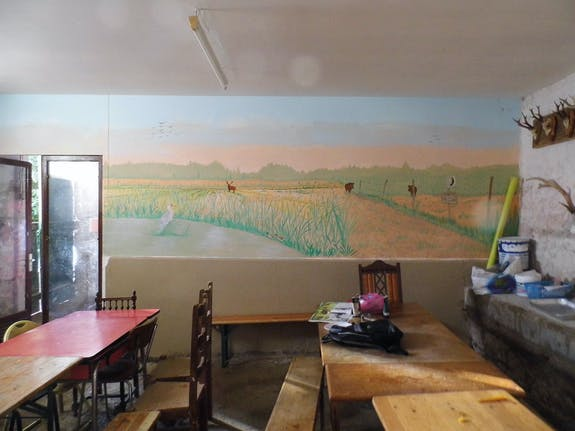 Peinture murale campagnarde…