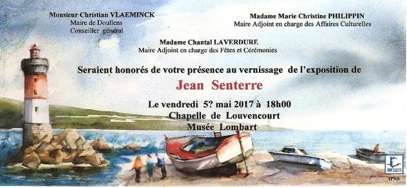 Mon exposition d aquarelles, musee Lombart a Doullens