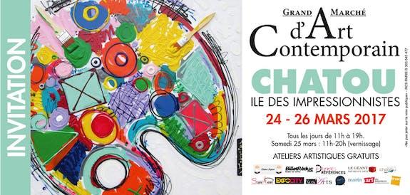 Grand Marché d'Art de Chatou du 24 au 26 mars 2017
