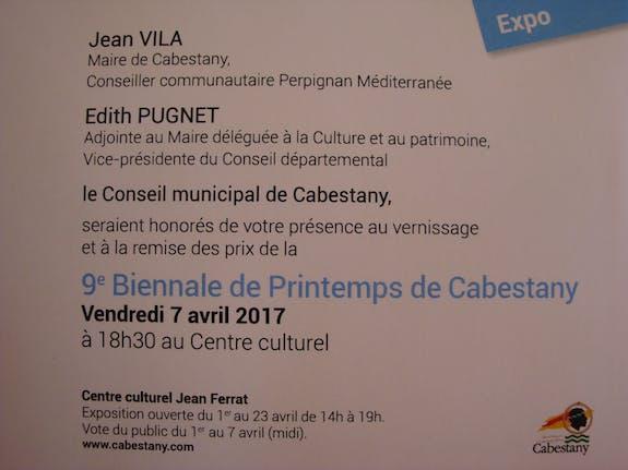 9Ème Biennale de Printemps de Cabestany