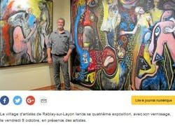 Exhibition of 4 artists in the artist's village of Rablay sur Layon