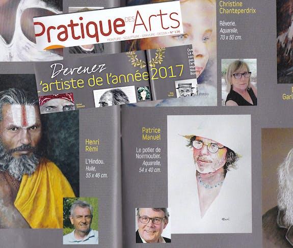 Portrait selectionné par Pratique des arts
