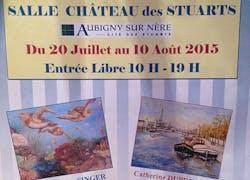Trois artistes exposent leurs toiles au Château d'Aubigny sur Nère