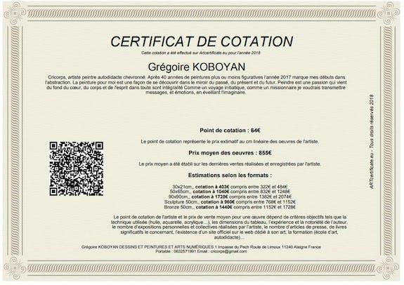 Mon certificat de cotation 2018