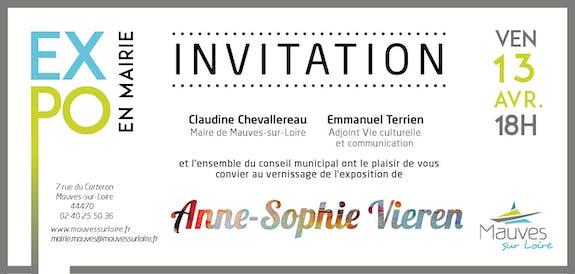 Vernissage Mairie de Mauves Sur Loire - Anne sophie Vieren