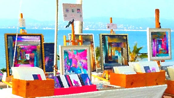 Open-air art gallery
