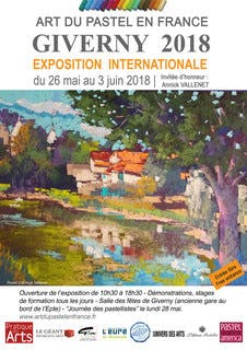 Exposition Internationale de l'Art du Pastel en France giverny 2018