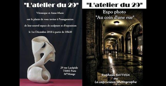 Inauguration de «L'atelier du 29» et vernissage de ma série «Au coin d'une rue»