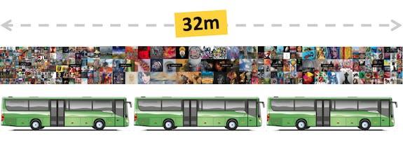 Expo-Métro : 32 mètres de longueur d'affiches !