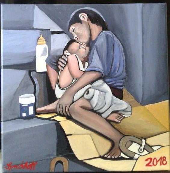 Buhay vergesene straßenkinder aus tondo