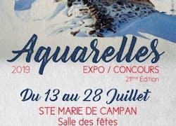 21Eme Expo/Concours d'aquarelles 2019 de Ste Marie de Campan