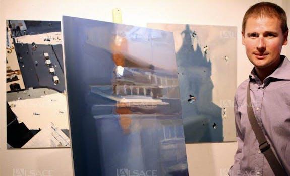 Le peintre polonais Sebastian Rudko à l'Espace Caravelle