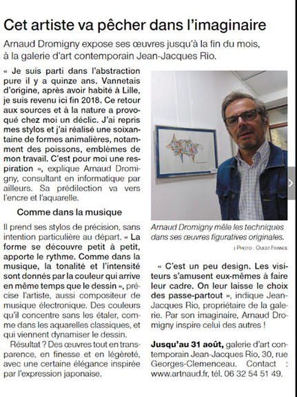 Article Ouest6=-France «Pêche dans l'Imaginaire»