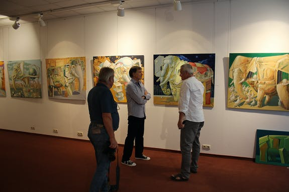 Exposition in ccs art gallery in Suhl (Germany).