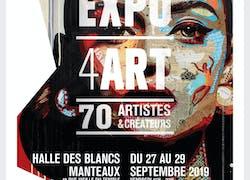 Expo 4art à la halle des blancs manteaux paris