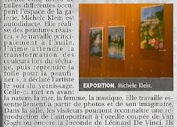 Article concernant mon expo!